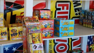 Fireworks stands prepare for June 24 opening