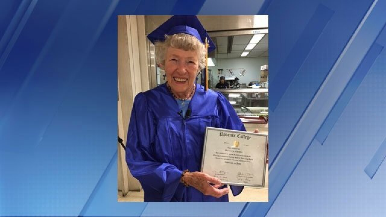 88-year-old great-grandmother graduates from Phoenix College