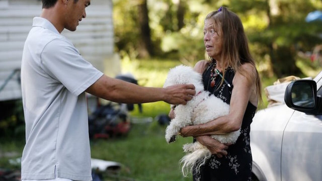 Woman saved in Louisiana flood meets her rescuer