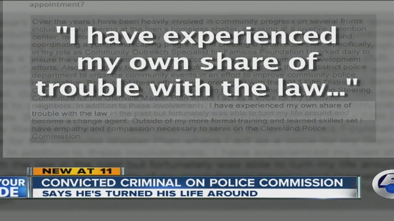Convicted criminal on CLE police commission