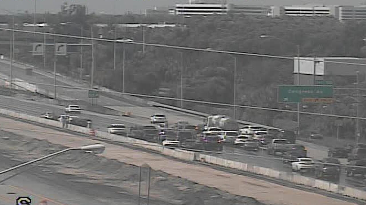A crash on I-95 Southbound at Congress Avenue (exit 50) has 4 left lanes blocked, south of Linton Boulevard in Delray Beach.