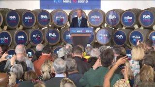 Democratic presidential hopeful Michael Bloomberg in Richmond.