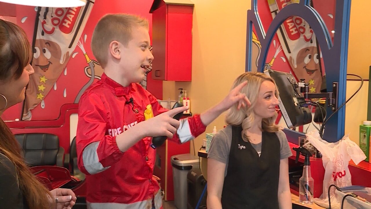 'I just love helping people': Utah boy donates locks of hair to benefit children with cancer