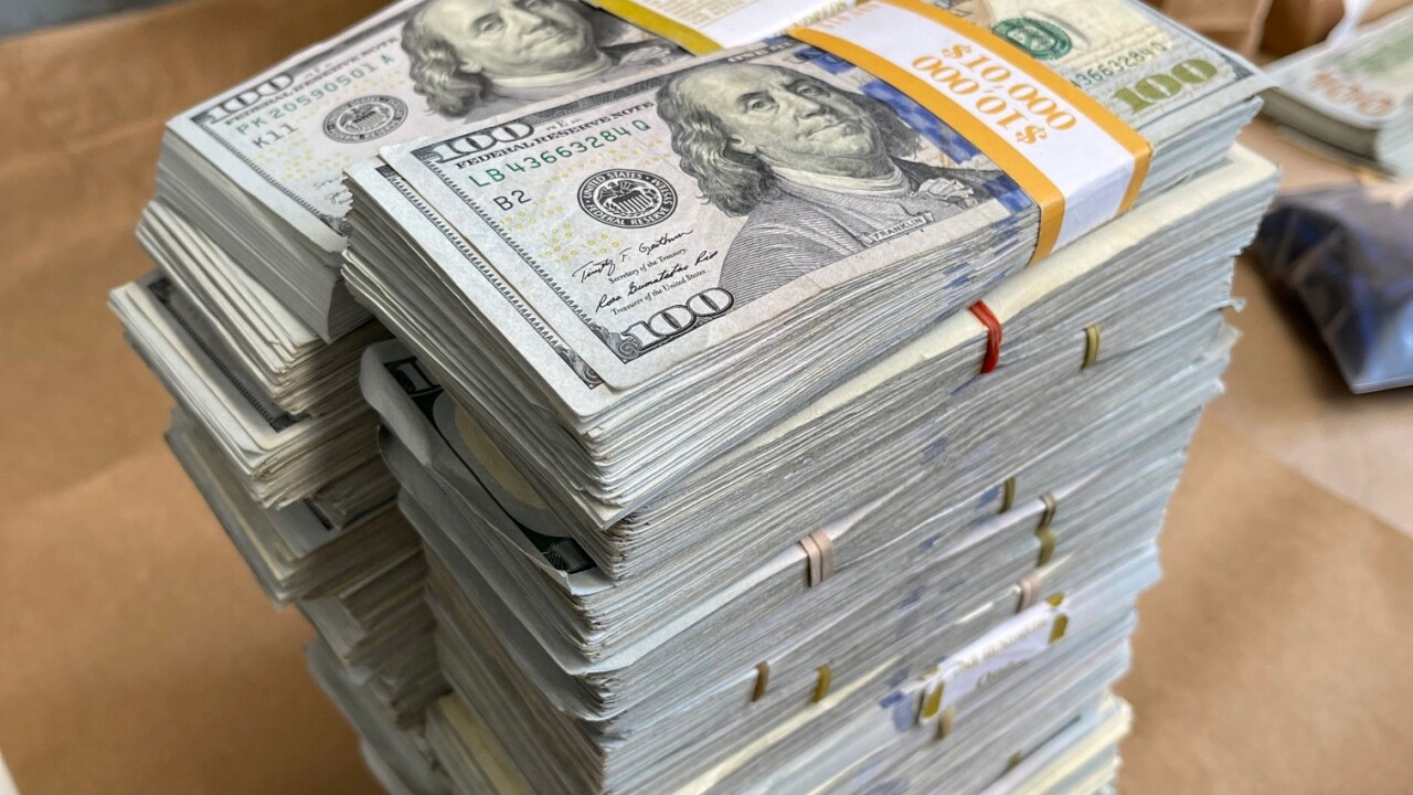 Cash found and booked by Santa Barbara Police Department