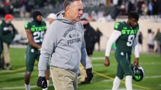 Michigan State head coach Mark Dantonio not thinking about his future