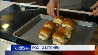 Roast Beef Three-CheeseSliders