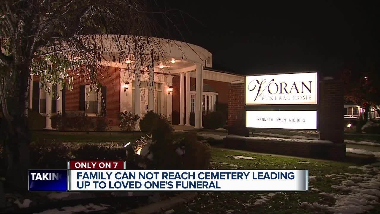 Family can't reach cemetery leading up to loved one's funeral.jpg