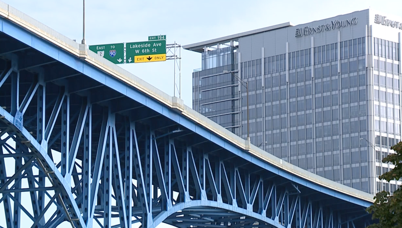 The Main Avenue Bridge in Cleveland.