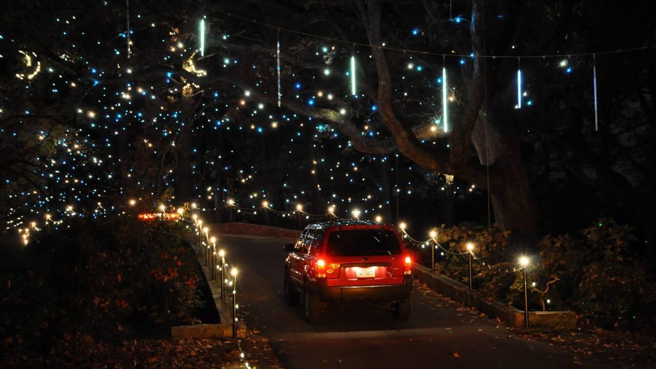 Norfolk Botanical Garden of Lights drive thru begins December16