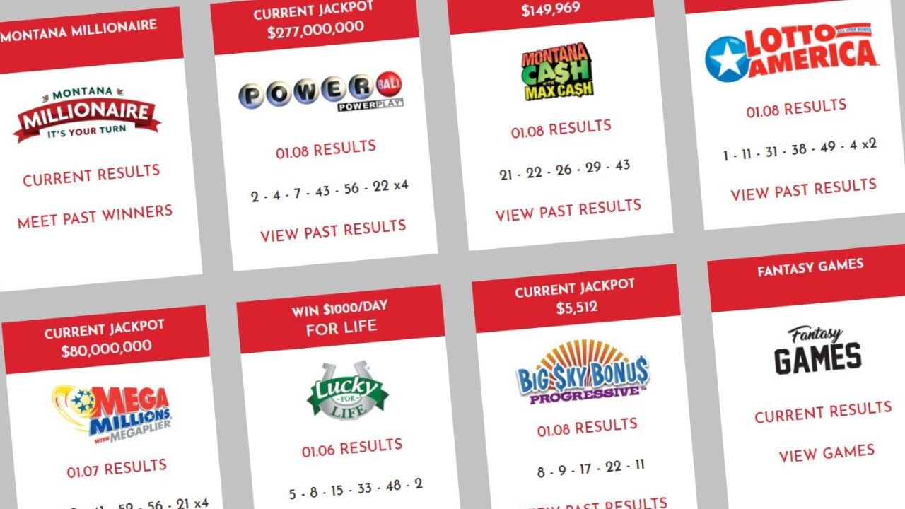 More big prize winners announced by Montana Lottery