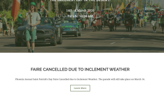 Phoenix St Patrick's Day Faire 2020 canceled
