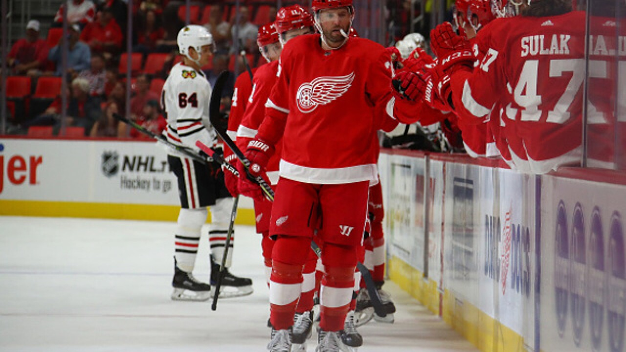 Red Wings stay unbeaten in high scoring game