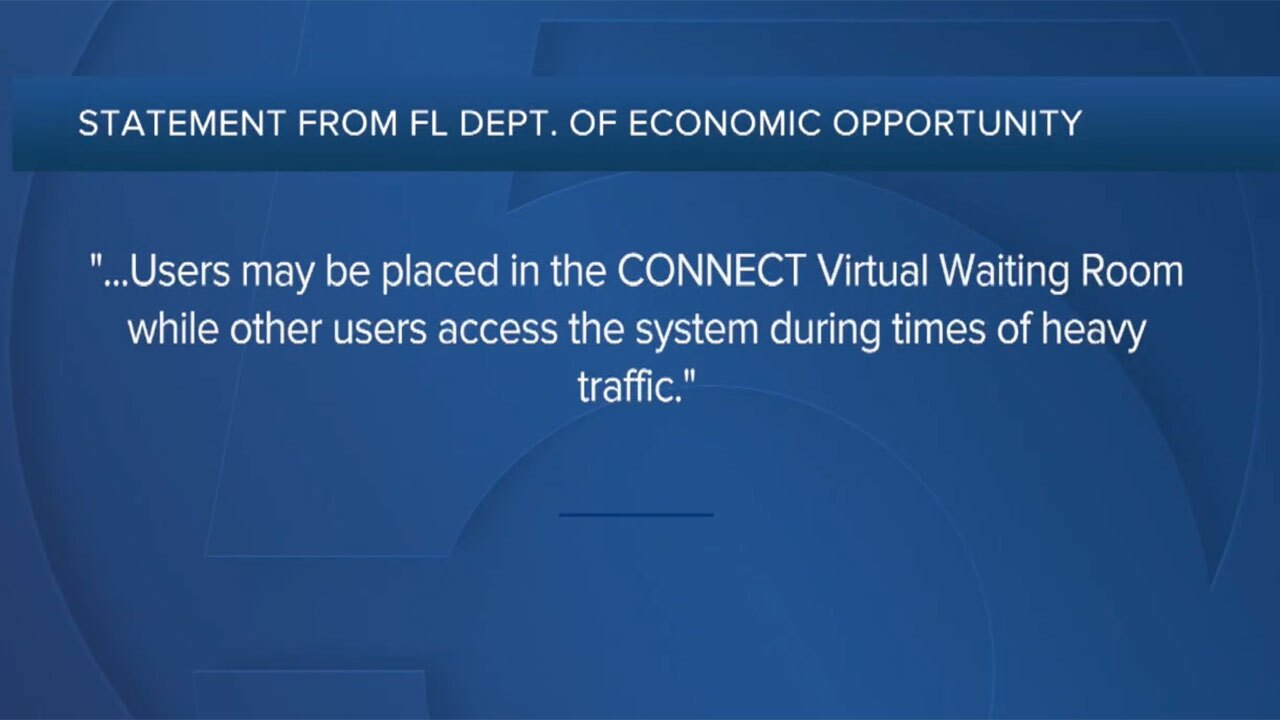 Florida statement on unemployment glitches