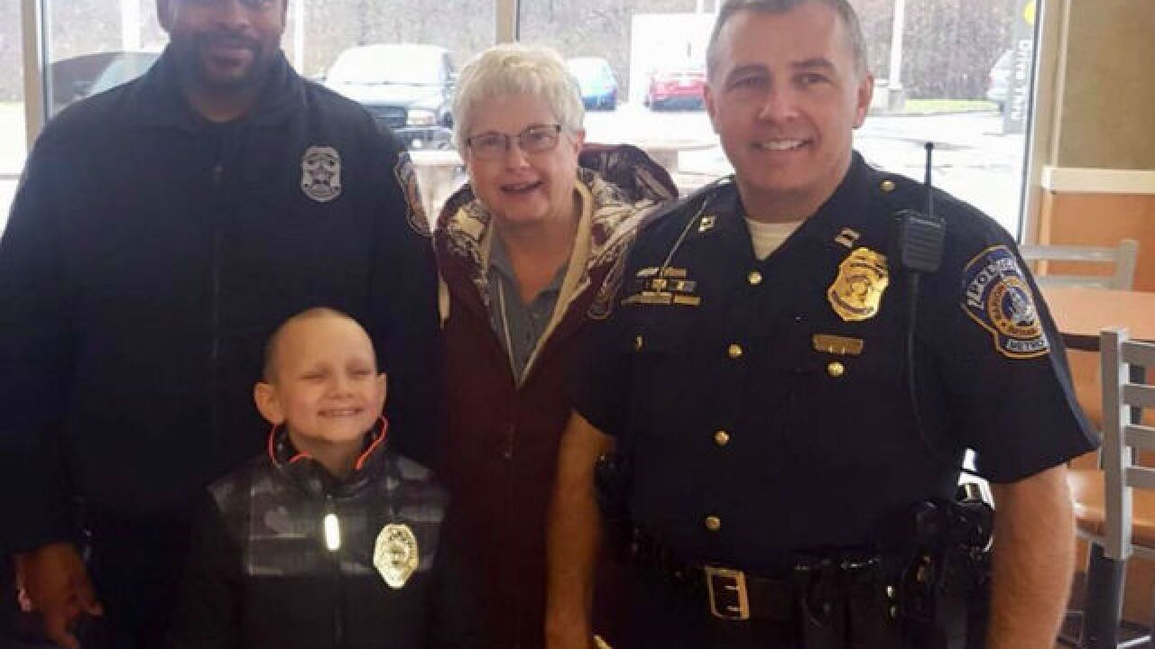 IMPD swears in boy with cancer at McDonald's