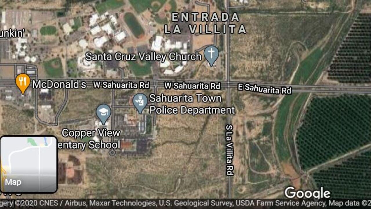Sahaurita police investigated a shooting Sunday night.