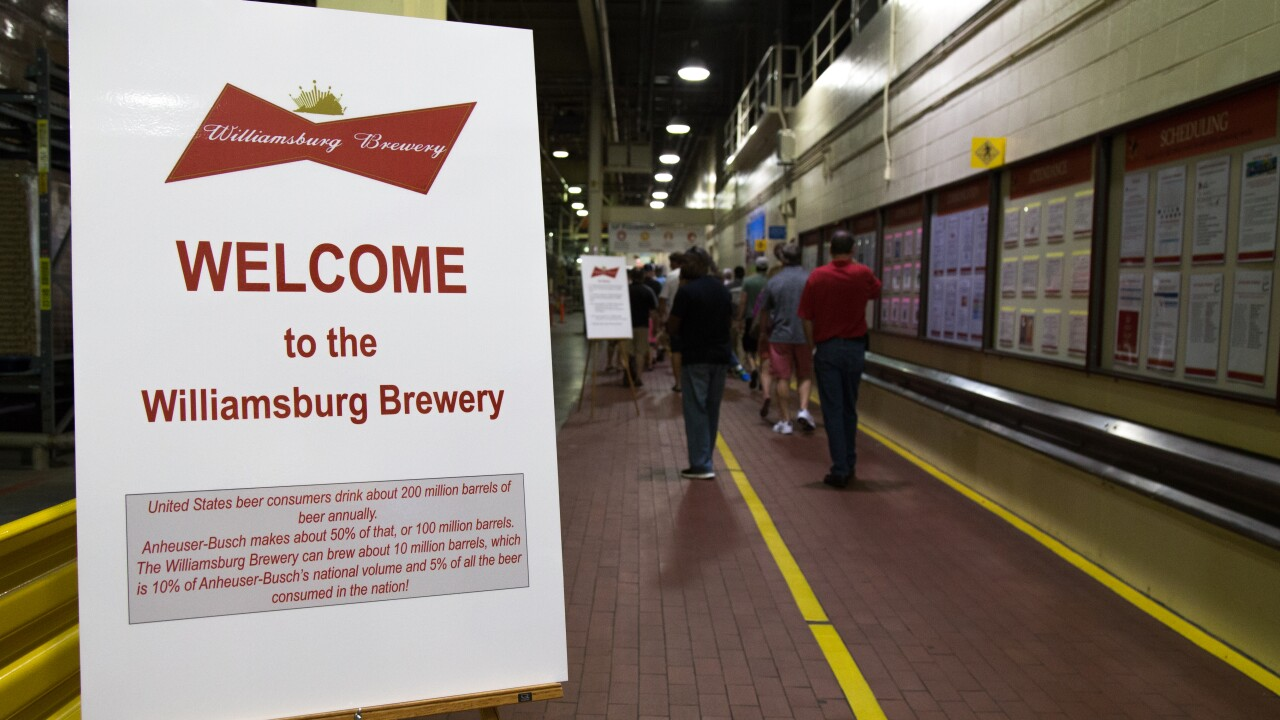 Anheuser-Busch Williamsburg brewery opens for limited pop-up tours this summer