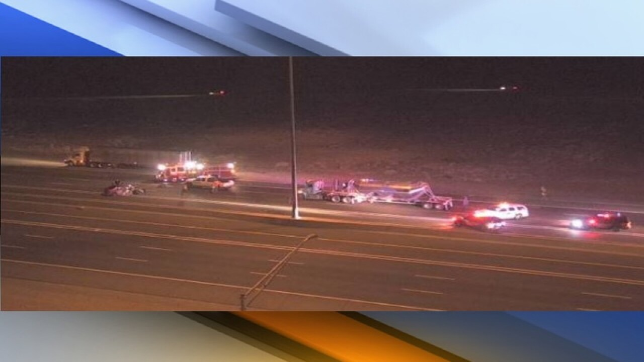 I-17 closed SB near SR74 for wrong way crash