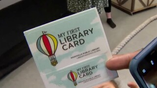 Children Get Their First Library Card