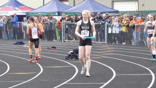 Billings West girls relay