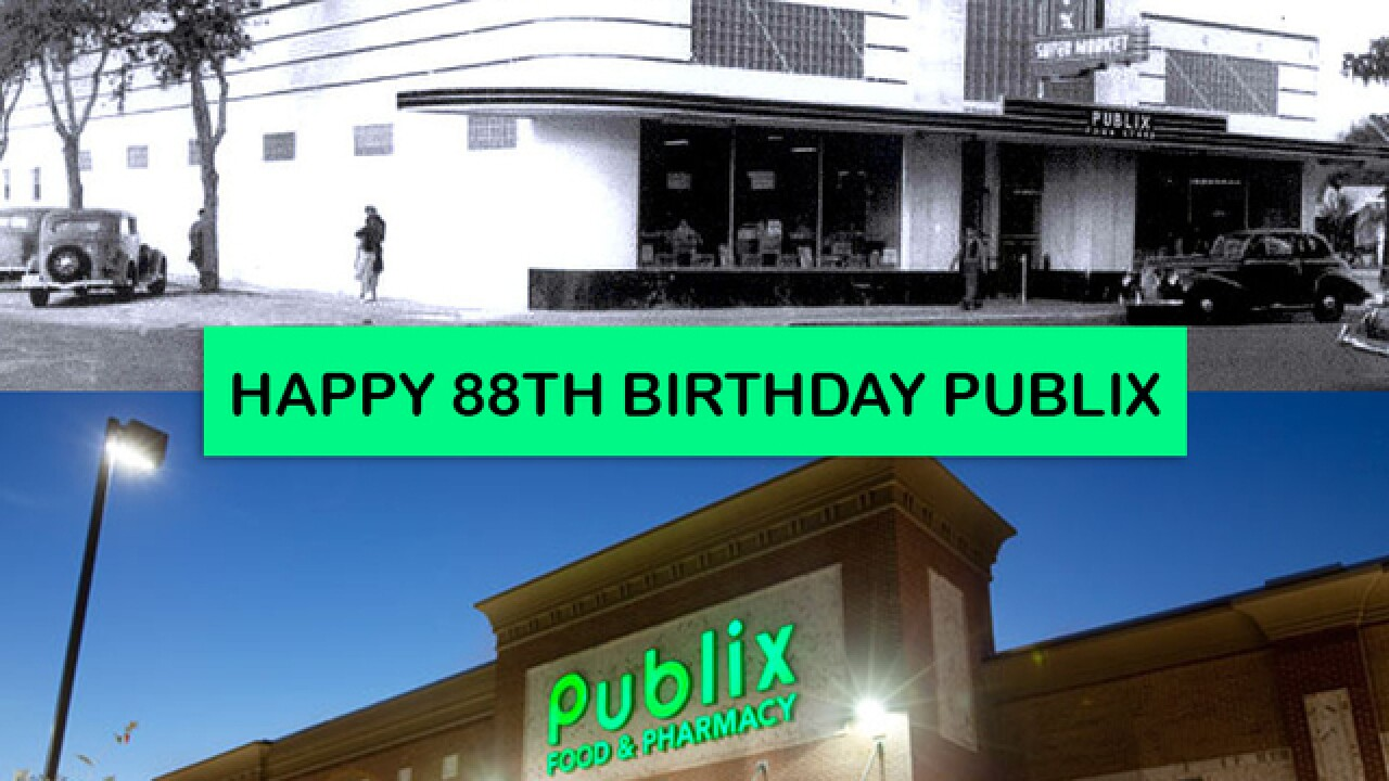 Publix, home of the pub sub and free cookie, celebrates its 88th birthday