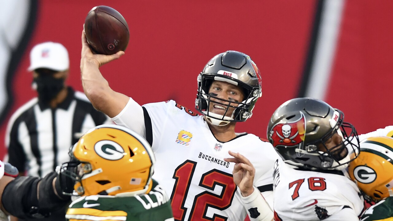 Tampa Bay Buccaneers QB Tom Brady vs. Green Bay Packers in 2020