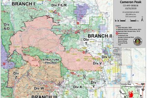 Cameron Peak Fire map_Oct. 20 2020 a.m.
