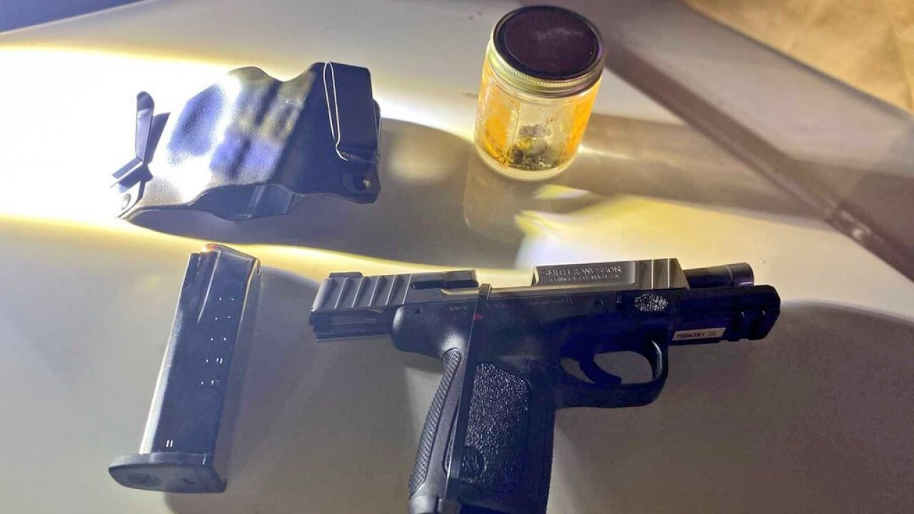 Capt. Dori Koren posted this image on social media of a weapon found during the first weekend of a new operation on the Las Vegas Strip to crack down on crime