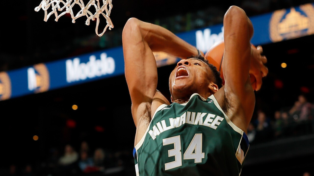 Giannis Antetokounmpo is third Bucks player to score 2,000 points in a season