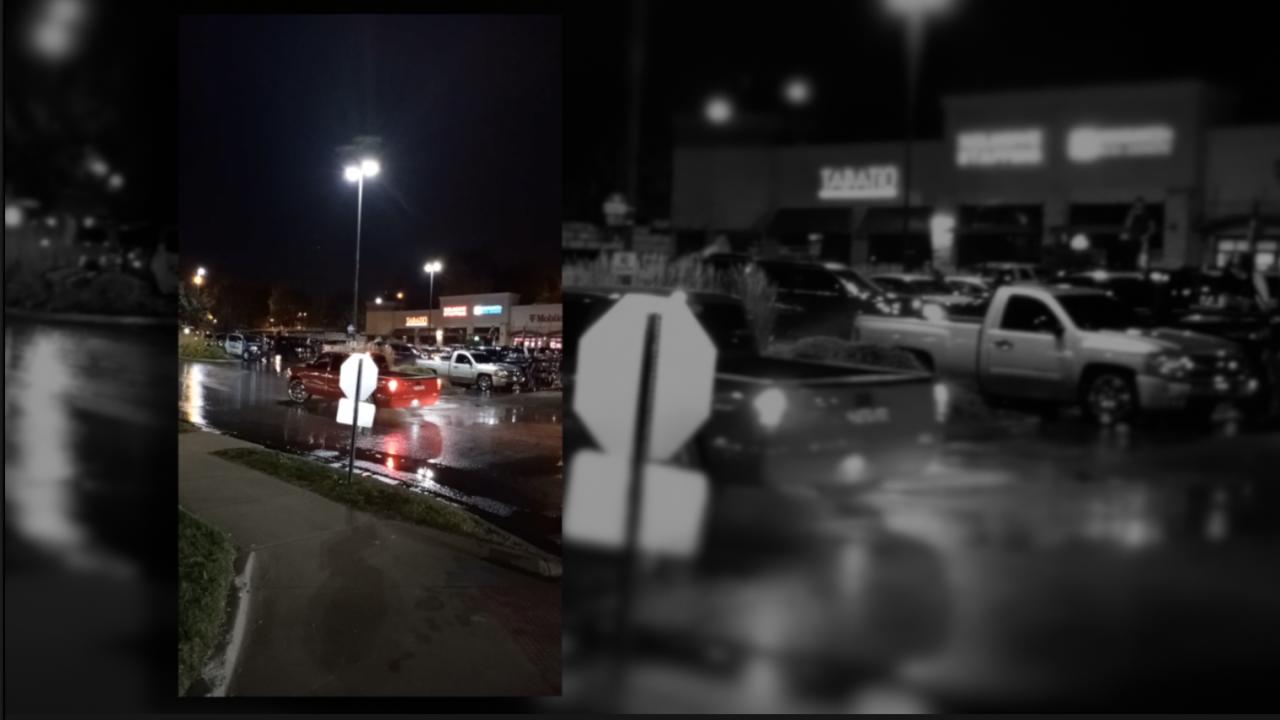 KCK shopping center parking lot sideshow