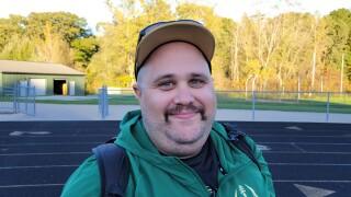 Doug Samuels shaves beard