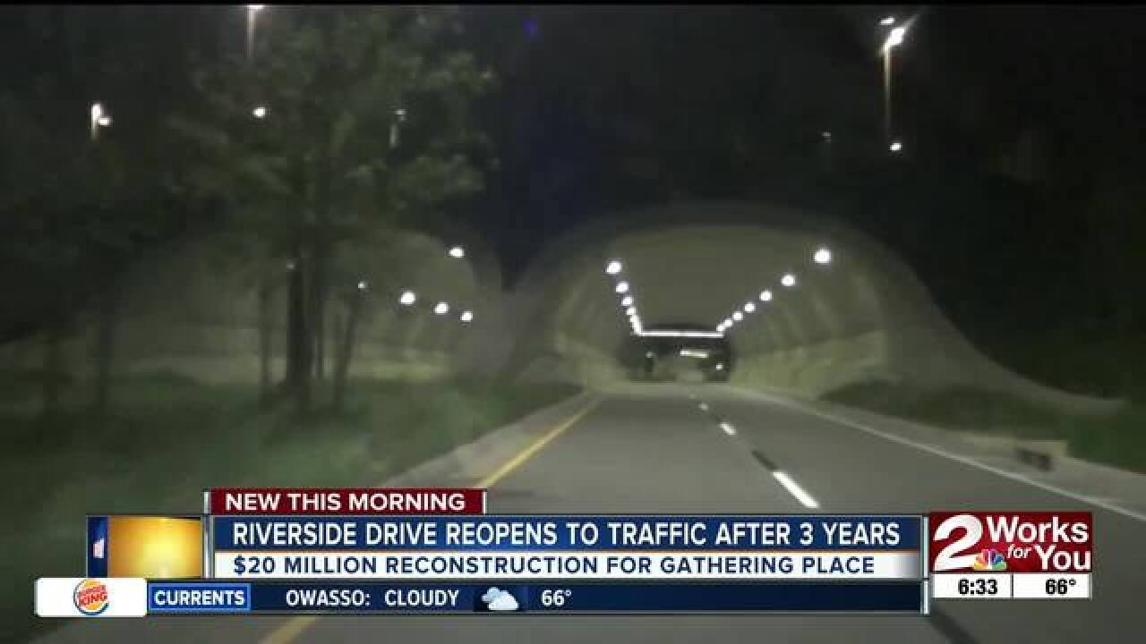 Riverside Drive reopens to traffic after 3 years