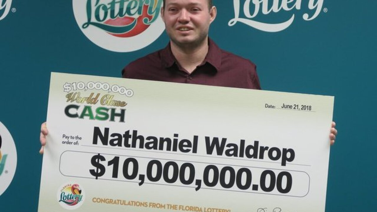 Orlando man wins $10 million playing Florida Lottery
