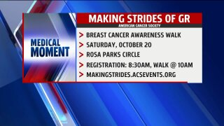 Breast cancer awareness walk with Spectrum Health