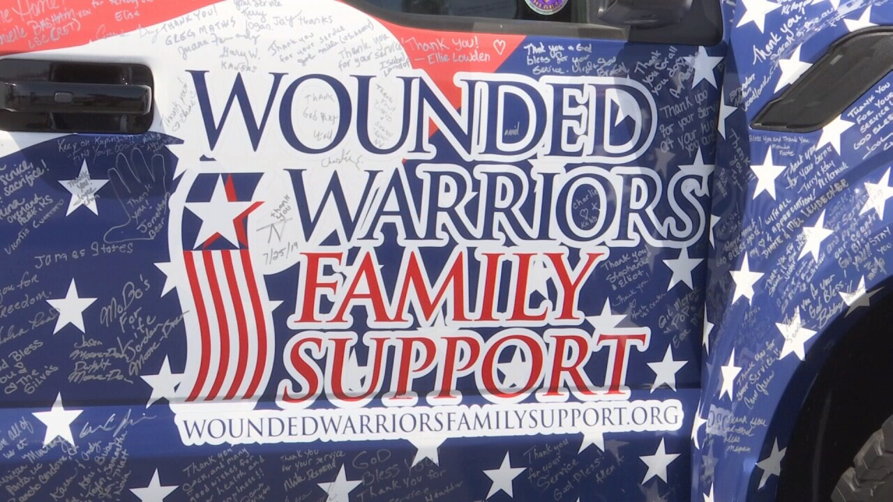 Wounded Warriors High Five Tour stops in Laurel
