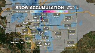 Snowfall Accumulation 2/17/2020