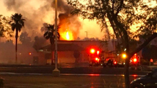 Mesa Sizzler fire
