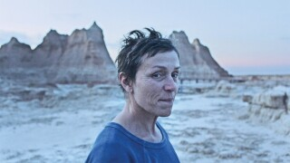 "Frances McDormand stars in ""Nomadland."" Photo courtesy Searchlight Pictures."