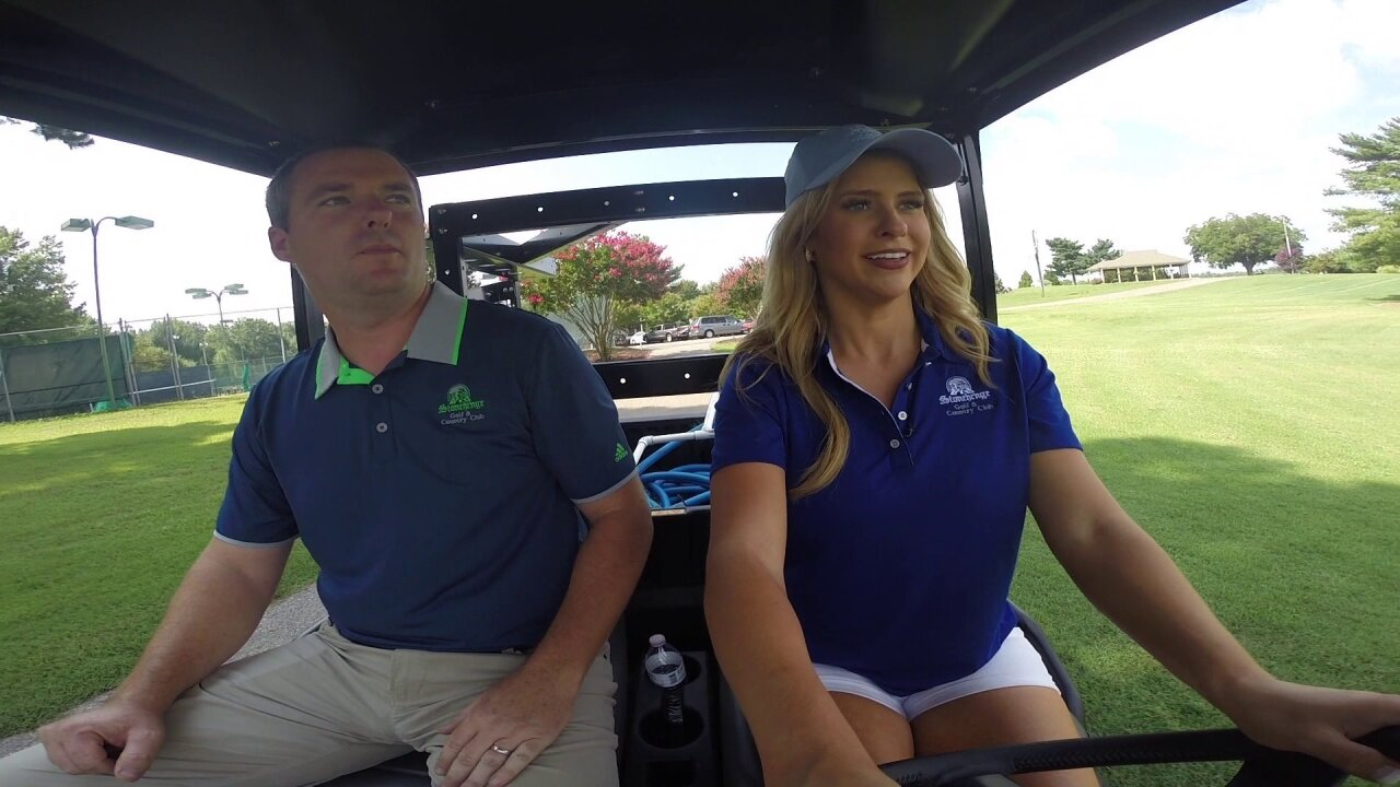 Nikki-Dee becomes a greenskeeper at Stonehenge CountryClub