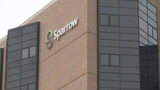 Light show for children at Sparrow Hospital