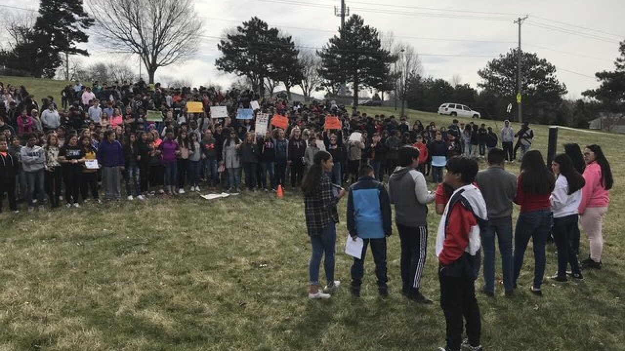 Students hold gun control walkout at Central