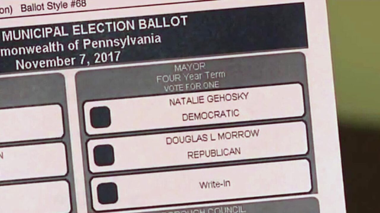 Jailed man, dead woman listed as mayoral candidates on Pennsylvania county's ballots