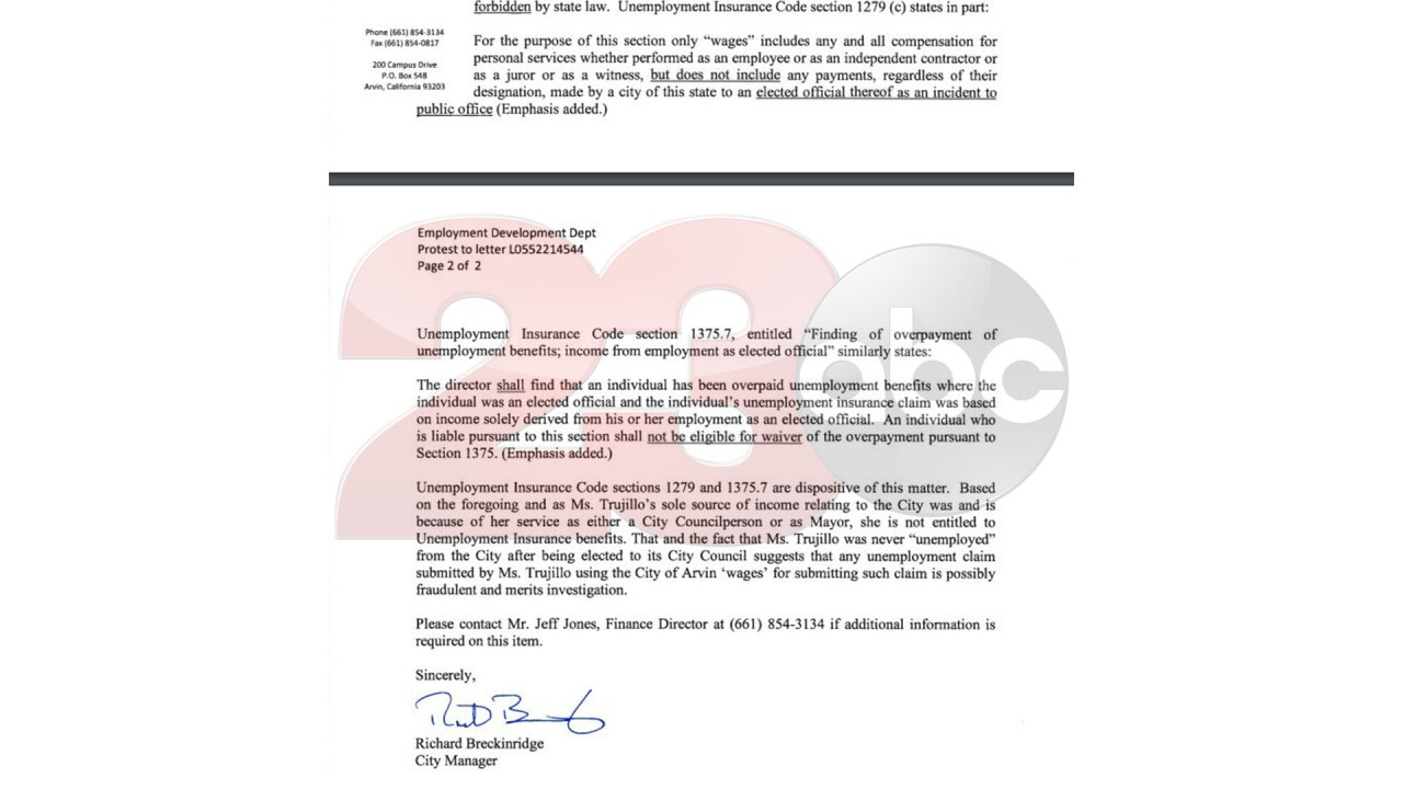 Trujillo EDD Fraud Letter 2