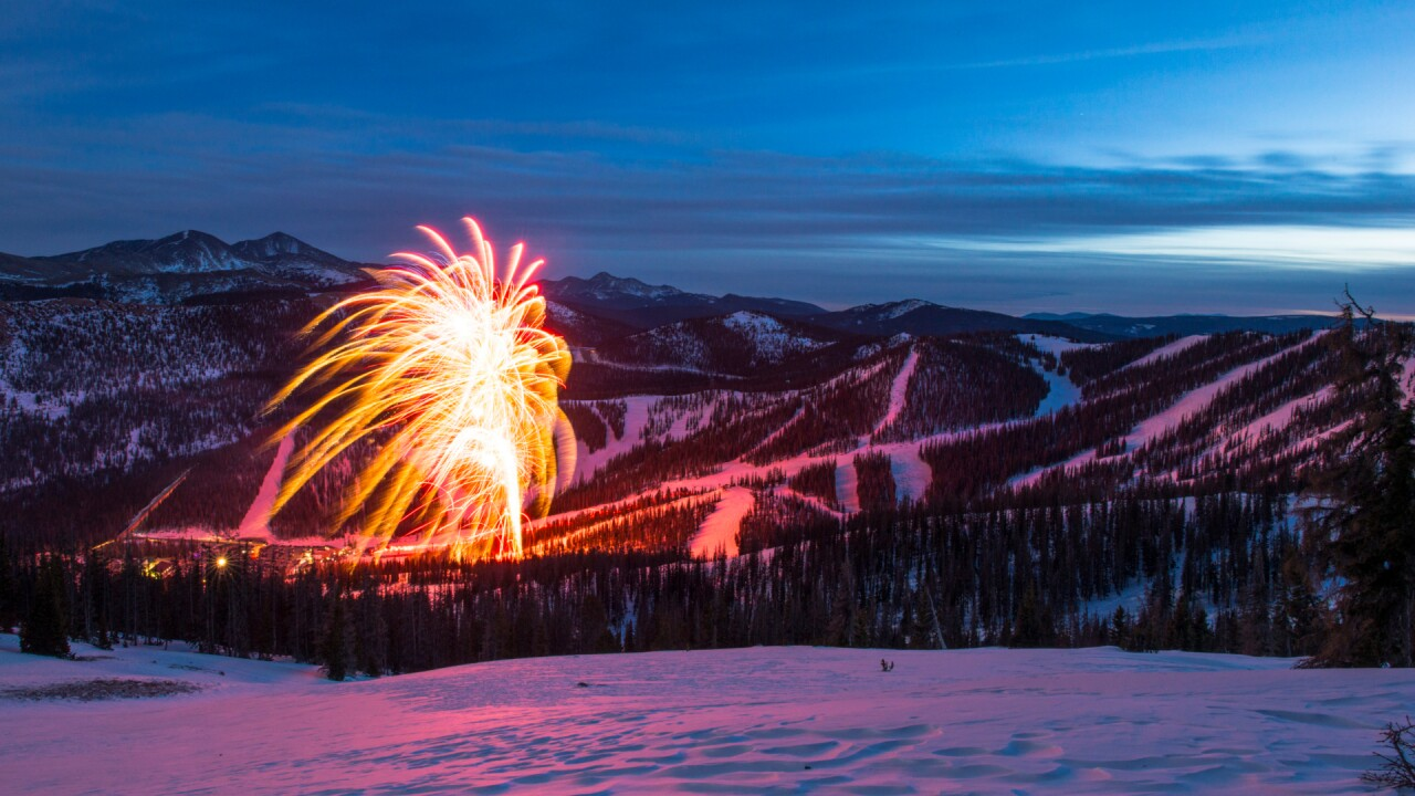 New Years Eve Fireworks at Monarch Mountain seen from Mirkwood.jpg