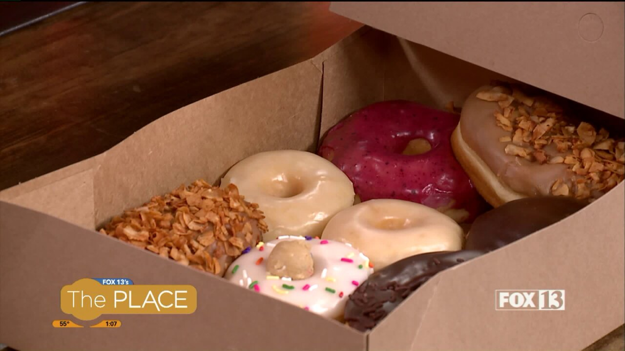 These donuts have a secret, like what's in the Maple BaconBar!