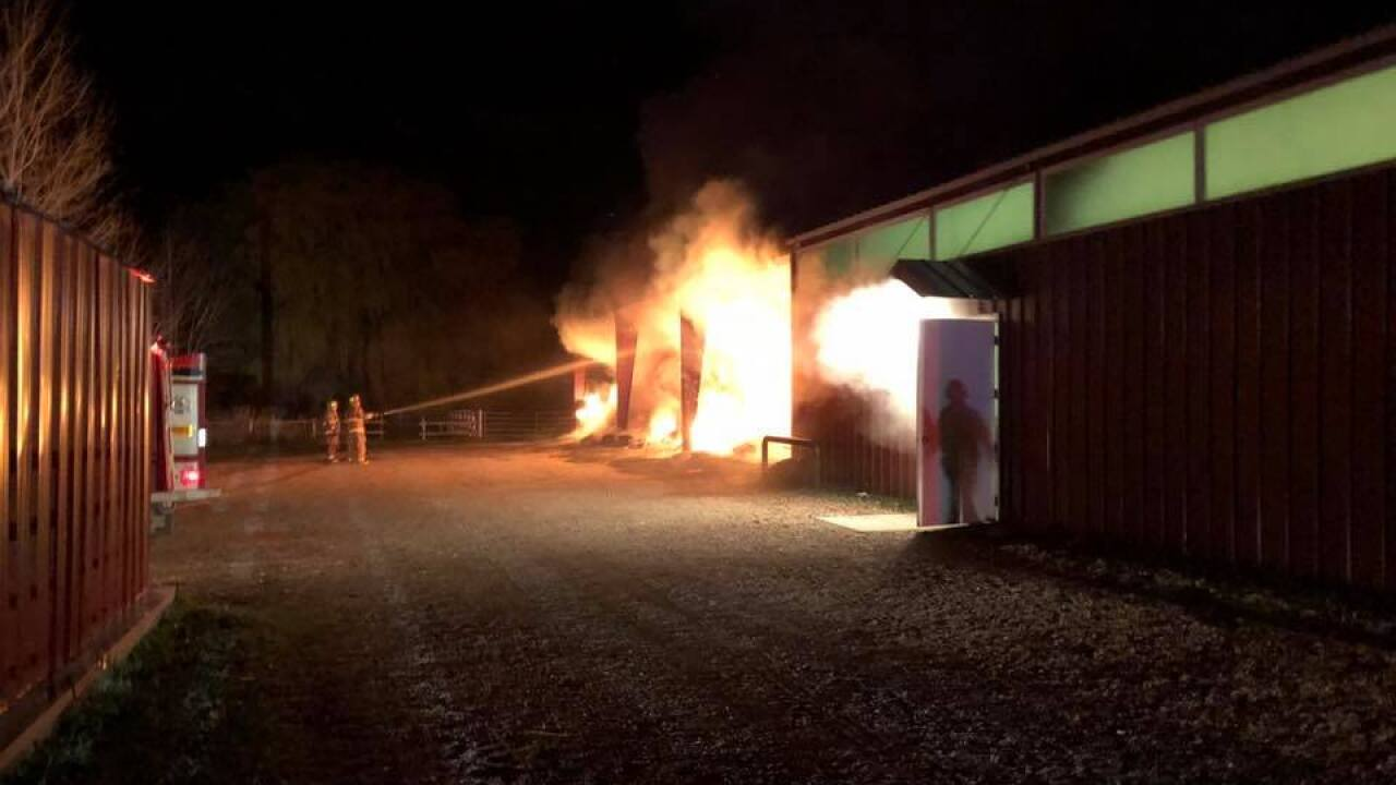 About 70 tons of hay a total loss after barn fire in Wasatch County