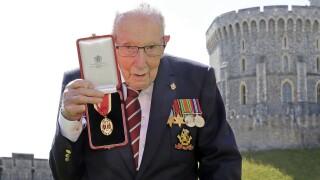 Britain WWII Veteran Hospitalized
