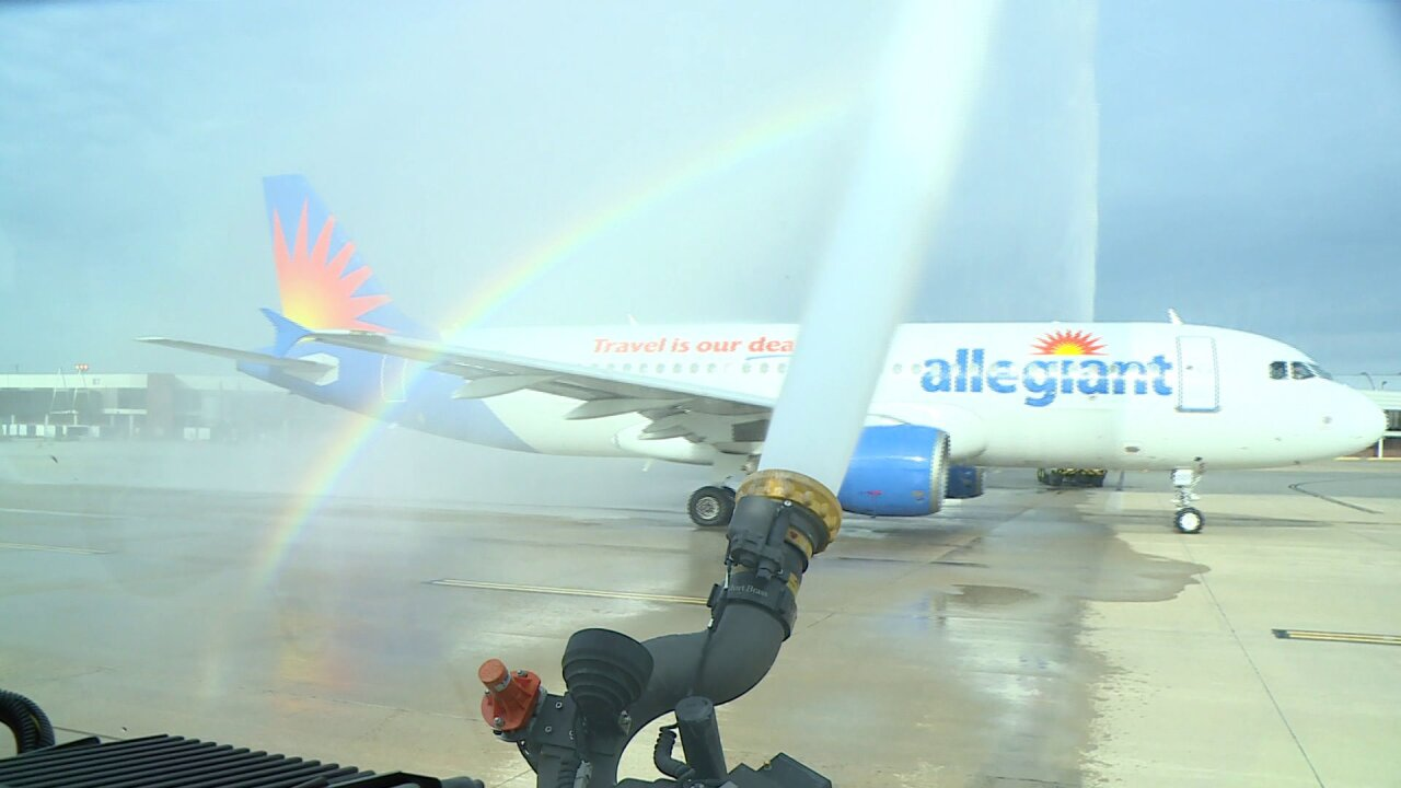 Allegiant Airlines launches non-stop flights to Sarasota,Florida