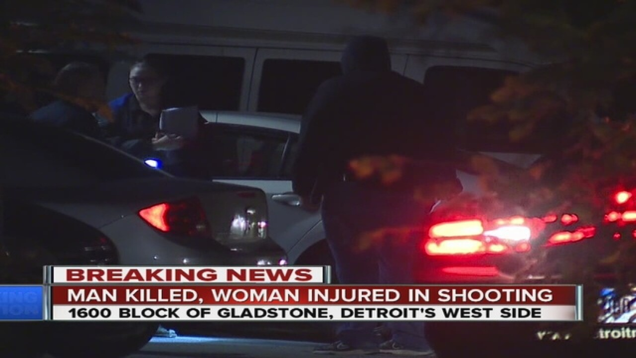 Man killed, woman hurt in shooting in Detroit