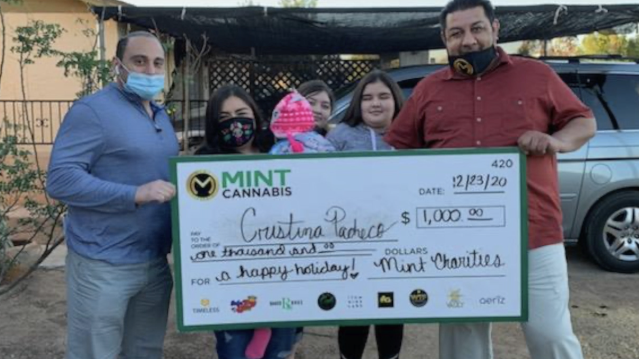 Mint Dispensaries give to families in need