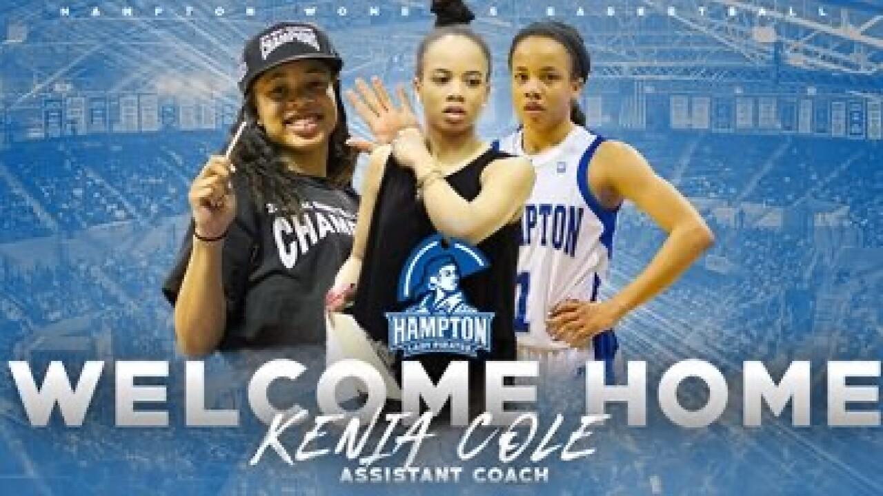 Kenia Cole, Hampton (Courtesy Hampton Athletics)